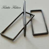Правоъгълна декоративна, метална 40мм Х 15мм