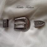 Катарама метална за дамски колани комплект с размер 25mm,