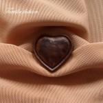 Копче Имитация на Кожа - във формата на сърце, Размер: 54''