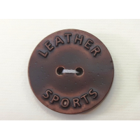 "Button Imitation of Leather ""LEATHER SPORTS"", Size: 32'', 40''"