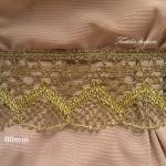 Дантела с Лурекс Златна Ширина: 6 см
