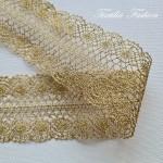 Дантела с Лурекс Златна Ширина: 7,5 см