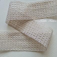 Дантела памук с Лурекс Златна Ширина: 8 см