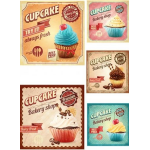 "Оризова хартия за декупаж Формат А3 - ""Cupcakes"""