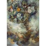 """Оризова хартия за декупаж Формат А3 - """"Дърво с цветя"""""""