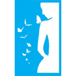 """Стенсил """"Дама & Пеперуди"""" 16смX26см"""