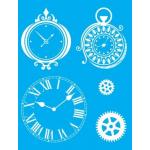 """Стенсил """"Часовници"""" 15смX20см"""