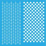 "Стенсил ""Navy & Polka Dots"" 20смX20см"