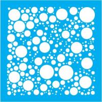 "Stencil ""Polka Dots"" 15cmX15cm"
