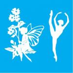 "Стенсил ""Фея & Балерина"" 15смX16см"