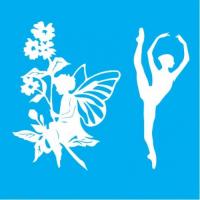 "Stencil ""Fairy & Ballerina"" 15cmX16cm"