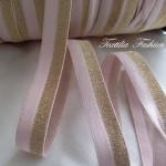 Ластик прегъвен за дамско бельо и облекло,тъкан 14mm с lurex
