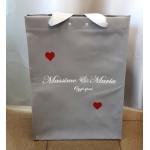 Торбичка за пазаруване със сатенени дръжки, Размер: 37x50x23см