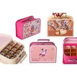 Кутии за шоколадови бонбони куфарче