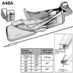 Водач за едновременно прикачване на лента и шнур - за права машина - A46A