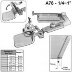 Подгъвач за средни и тежки материи - за права машина - A78