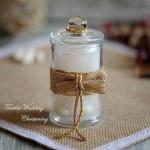 Бурканче стъклено за сватби и кръщенета 150 ml