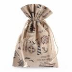 Бонбониера ленена торбичка 14x16,5см
